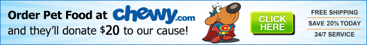 Chewy.com Banner New Customer $20